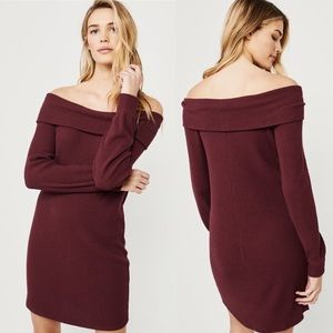 ✨New ABERCROMBIE Off The Shoulder Cozy Dress